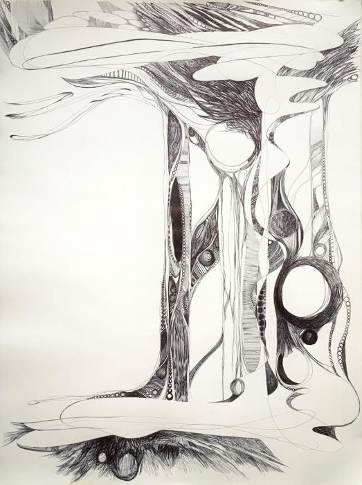 """""""Unt""""Untitled VIII""""  ball point pen on paper  24"""" x 18"""""""