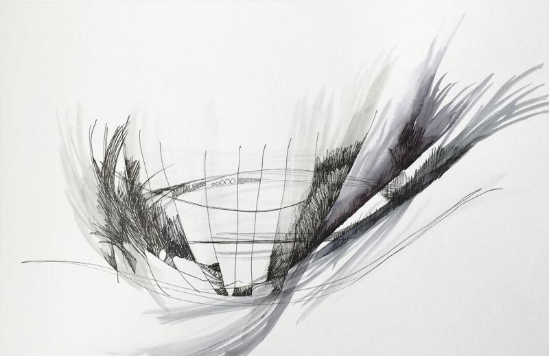 """""""Untitled  N""""   Ball point pen drawing on paper  13.25""""  x  8.5"""""""
