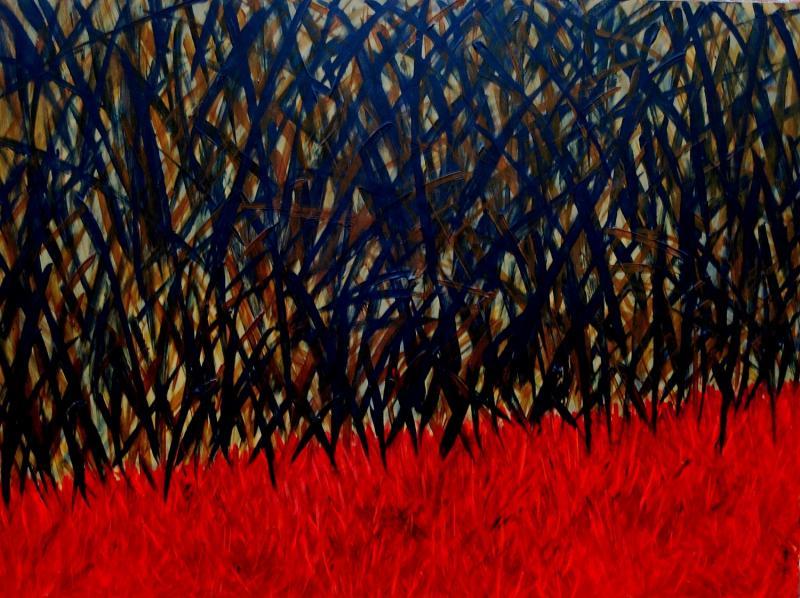 "Acrylic on wood panel  by  Penny Lisk    48"" x 36"""